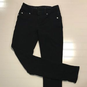Justice brand black knit jeggings size 10S